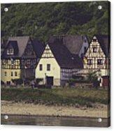 Vintage Postcard Look Of Spay Germany Acrylic Print