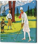 Vintage Poster Advertising Samaden In Switzerland Acrylic Print