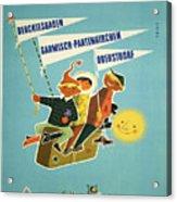 Vintage Poster - Bavarian Alps Acrylic Print