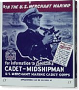 Vintage Poster - Be A Ship's Officer Acrylic Print