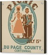 Vintage Poster Old Settlers Picnic Acrylic Print