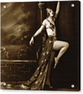 Vintage Poster Posing Dancer In Costume Acrylic Print