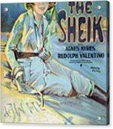 Vintage Poster - The Sheik Acrylic Print
