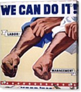 Vintage Poster - Together We Can Do It Acrylic Print