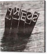 Vintage Press Industry Blocks Acrylic Print