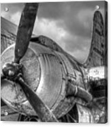 Vintage Prop - Black And White Acrylic Print