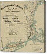 Vintage Railway Map 1865 Acrylic Print