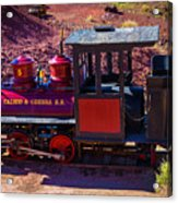 Vintage Red Calico Train Acrylic Print