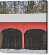 Vintage Red Carriage Barn Lyme Acrylic Print