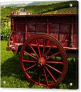 Vintage Red Wagon 2 Acrylic Print