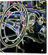 Vintage Retro Car Interior Acrylic Print