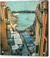 Vintage Riomaggiore Cinque Terre Italy Acrylic Print