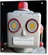 Vintage Robot Square Acrylic Print
