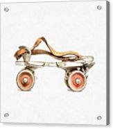 Vintage Roller Skate Painting Acrylic Print