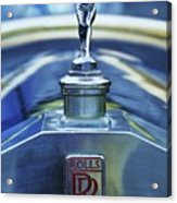 Collectible Logo And Emblem On A Vintage Rolls Royce Acrylic Print