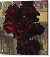 Vintage Roses In Vintage Paris Acrylic Print