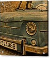 Vintage Rusty Renault Truck Acrylic Print