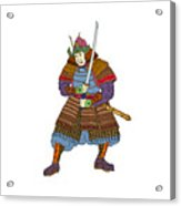 Vintage Samurai Katana Woodblock Print Acrylic Print