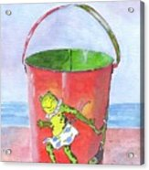 Vintage Sand Pail Dancing Frogs Acrylic Print