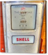 Vintage Shell Gas Pump Acrylic Print