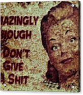 Vintage Sign 2e Acrylic Print