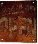 Vintage Sign 89c Acrylic Print