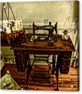 Vintage Singer Sewing Machine Acrylic Print