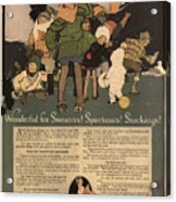 Sweaters Sportcoats And Stockings Vintage Soap Ad 1917 Winter Acrylic Print