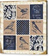 Vintage Songbird Patch 2 Acrylic Print
