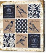 Vintage Songbirds Patch Acrylic Print