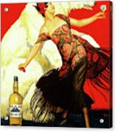 Vintage Spanish Liquor Ad, Flamenco Dancer, Polar Bear Acrylic Print