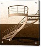 Vintage Stair 48 Escalera Caracol Helicoidal Acrylic Print