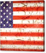 Vintage Stars And Stripes Acrylic Print by Jane Rix