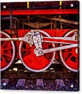 Vintage Steam Train Wheels Acrylic Print