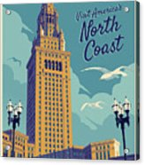 Cleveland Poster - Vintage Style Travel  Acrylic Print