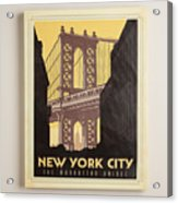 Vintage-style New York City Poster Acrylic Print