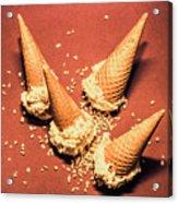Vintage Summer Ice Cream Spill Acrylic Print