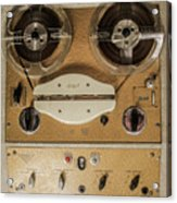 Vintage Tape Sound Recorder Reel To Reel Acrylic Print