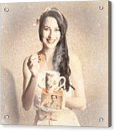 Vintage Tea Advertisement Pin-up Acrylic Print