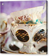 Vintage Teacups Acrylic Print