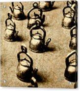 Vintage Teapot Party Acrylic Print
