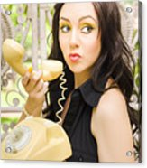 Vintage Telephone Acrylic Print by Jorgo Photography - Wall Art Gallery