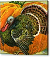Vintage Thanksgiving Card Acrylic Print