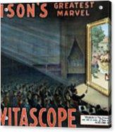 Vintage Thomas Edison Print - The Vitascope Acrylic Print