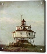 Vintage Thomas Point Shoal Lighthouse Acrylic Print