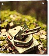 Vintage Tin Tank  Acrylic Print