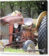 Vintage Tractor In Color Acrylic Print