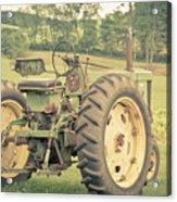 Vintage Tractor Keene New Hampshire Acrylic Print