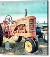 Vintage Tractors Acrylic Acrylic Print