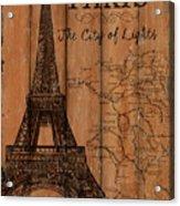 Vintage Travel Paris Acrylic Print